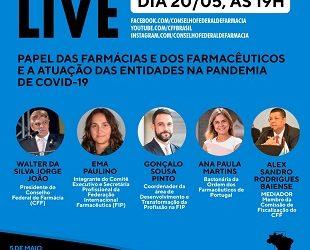Live: O papel das farmácias e dos farmacêuticos na pandemia de Covid-19