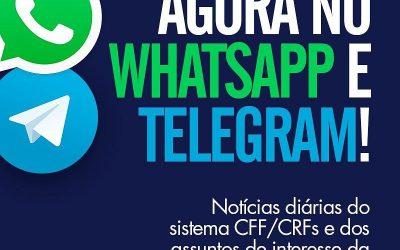 CFF lança grupos no WhatsApp e Telegram