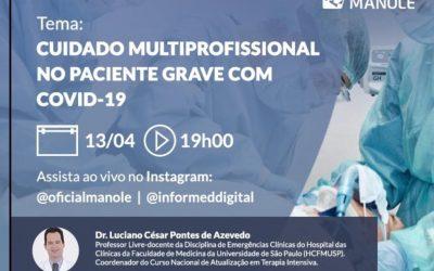 Live: Cuidado Multiprofissional no paciente grave com Covid-19