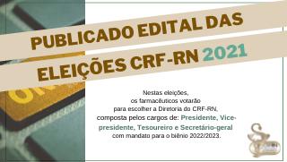 Publicado edital de candidaturas à diretoria do CRF-RN