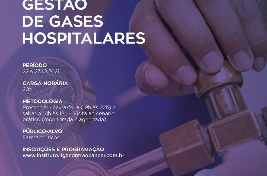 Inscrições abertas para Curso de Gestão de Gases Hospitalares